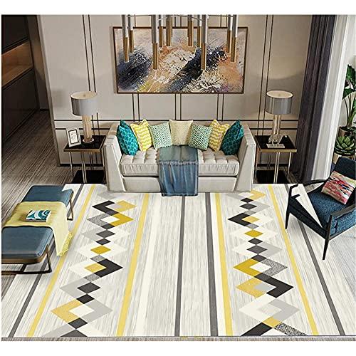 WCCCW Patrón de Costura geométrica Simple, Hotel clásico de Ocio, Calidad, Carpeta Decorativa Duradera y de fácil cuidado-80x120cm para el salón fácil de Limpiar Igual Que la Foto