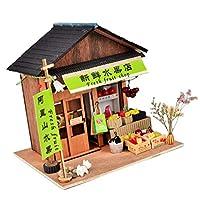1/24 DIYドールハウス ミニチュアキット 店 ショップ 食べ物模型 全5色 - 果物屋