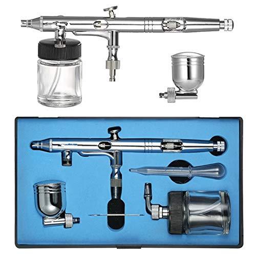 WDLY Dual-Action Airbrush Kit Set Verstelbare Luchtregeling 0.25Mm 7Cc /22Cc Trigger Spray Gun voor Nagel Arts Body Paint Schilderen Luchtborstel
