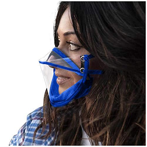 henri 2 Stück Care Mundschutz Visier Schutzschild Transparentes Schutzvisier Anti-Oil Splash Gesichtsschild Visier Antibeschlagvisier,Verstellbarer Mundschutz Kunststoffgesicht Visier