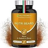 Crescita Barba Uomo Plus | Cheratina Zinco Vitamina D3 B12 B6 B2 MSM | Stimola la Crescita della Barba