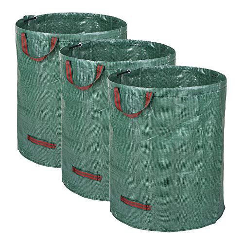 Find Bargain AloPW Yard Waste Bags 3pcs/Set 72 Gallons Garden Bag Set of 3pcs Reusable Gardening Bag...