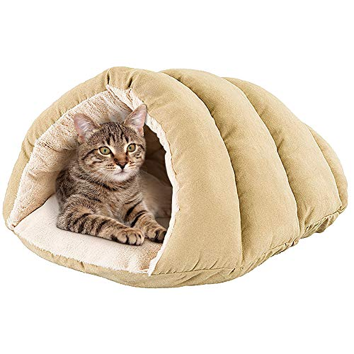 SPOT Cuddle Cave Dog Bed for Cats & Small Dogs Calming & Cozy Covered Sleeping Cushion for Cuddlers & Burrowers
