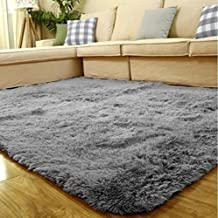 ACTCUT Super Soft Indoor Modern Shag Area Silky Smooth Fur Rugs Fluffy Rugs Anti-Skid Shaggy Area Rug Dining Room Home Bed...