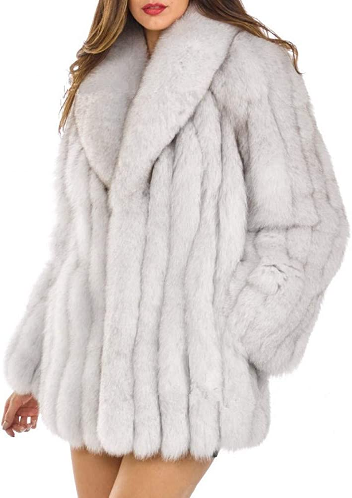Women Winter Turn Collar Limited price sale Thick Fox Fur Branded goods Coat Faux Jacket