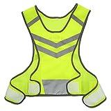 Lixada Deportes Running Reflectante Chaleco Ajustable Ligero Malla de Seguridad para Hombres Mujeres Jogging Ciclismo Caminar