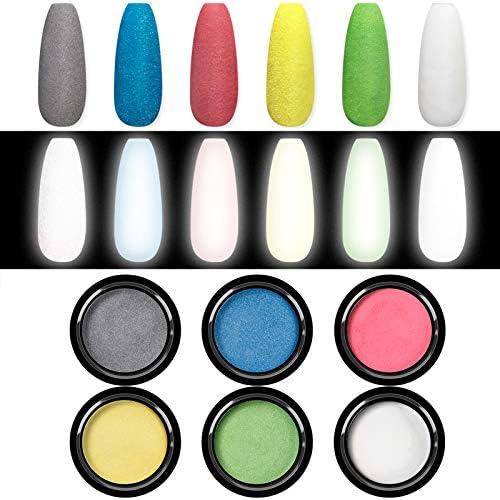 Saviland Chrome Nail Powder Reflective Nail Powder 6 Colors Nail Art Manicure Starter Kit Pigment product image
