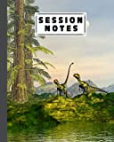 """Session Notes Log: Dilong Dinosaurs Session Notes Log, A Logbook to Record Client Appointments, Therapeutic Interventions, Progress and Plans for Therapists, 120 Pages, Size 8"""" x 10"""" by Simone Bach"""