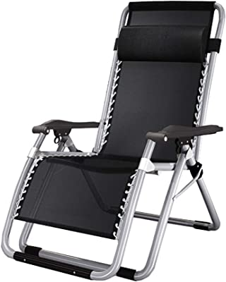 Amazon.com: Silla reclinable plegable de color negro para ...