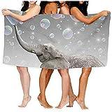 shenhaimojing Toalla Turca Burbuja Colorida Elefantes Africanos Sábanas De Baño Suave 100% Poliéster Swim Large Towel Cover 80X130Cm