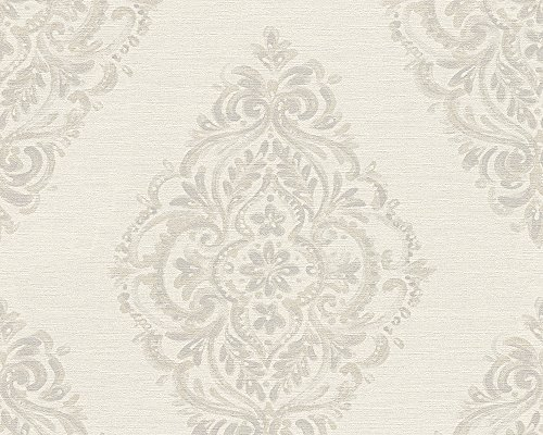 A.S. Création Vliestapete Around the world Tapete barock 10,05 m x 0,53 m beige grau Made in Germany 306953 30695-3