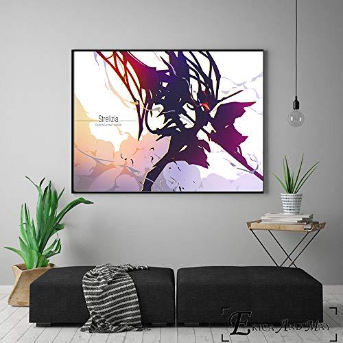 ganlanshu Minimalistische Figuren schmücken Wandkunstplakate und Drucke auf der Leinwand für die Heimdekoration,Rahmenlose Malerei-60X80cm