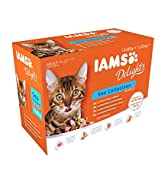 IAMS Delights Wet Food Sea Collection for Adult Cats with Fish in Jelly, 12 x 85 g