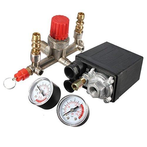 Air Compressor Pressure Pump Control Switch Heavy Duty + Valve Gauges Regulator