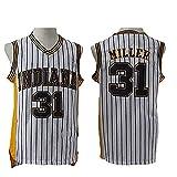 Fei Fei Indiana Pacers #31 Reggie Miller Camiseta de Baloncesto para Hombre Fan Transpirable Resistente al Desgaste Camiseta Uniforme(Tamaño: S-XXL),2,XL