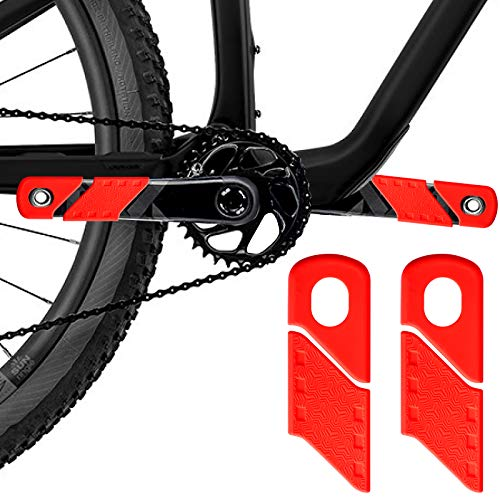 TTST 4 Pieces Bicycle Crank Protector, MTB Mountain Bike Crankset Caps Protector for DH FR AM XC Bicycle Crank Arm Boots