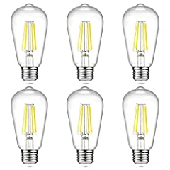 ✔ Ascher Pack of 6 Units E26 LED Filament bulbs replace 60W incandescent bulb by 6W LED, save over 90% on electricity bill of lighting. NOTE: This E26 LED bulb is not dimmable, please DO NOT use them with dimmer switch. ✔ EXCELLENT PERFORMANCE: This ...