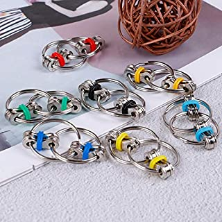 NUTY DUSTY Fidget Toys Anti Stress Adult Fidget Toys Key Ring Hand Spinner Fidget Bearing Tri-Spinner EDC Toy Metal for Adult and Children