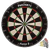 Diana de Dardos Dartboard Foarce 8 - Cerdas de Sisal de Clase A - Construcción de Alambre de Hoja Profesional - 451 x 38 mm – Juego Dardos + Libro de Reglas + Kit de ensamblaje
