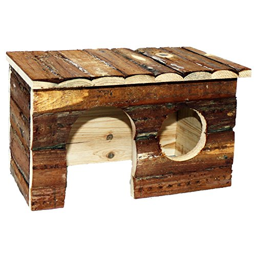 Pet Ting Natural Living Jerrik Log House 28 x 16 x 18 cm Hamster Rat Guinea Pig