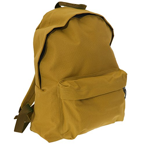 Bagbase Fashion Backpack / Rucksack (18 Litres) (One Size) (Mustard)
