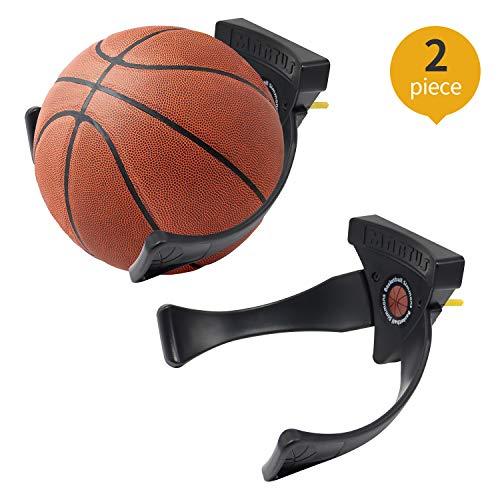Jolitac 2 Stück Ballhalter Ball Wandhalterung Sportball Halter Display Wandmontage für Fußball Fußball Basketball Volleyball, Sport Geschenk zu Weihnachten
