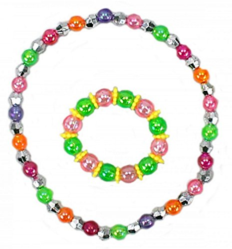 10 SET COLLIER ET BRACELET PERLE COLORÉ MODE