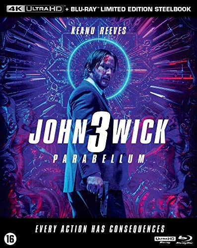 John Wick 3 : Parabellum Boitier Steelbook Edition Blu Ray 4K UHD + Blu Ray [Blu Ray] [Blu-ray]