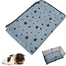 RIOUSSI Guinea Pig Cage Liners, Highly Absorbent Washable Reusable Guinea Pig Fleece Bedding for Midwest and C&C Cages with Waterproof Bottom. C&C 2x1, 1 Pack