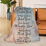 Mayakaka Prayer Blanket Healing and Faith Religious Inspirational Blankets Bible Verse Soft Throw Blanket Perfect Caring Gift for Men & Women 60x80 inch