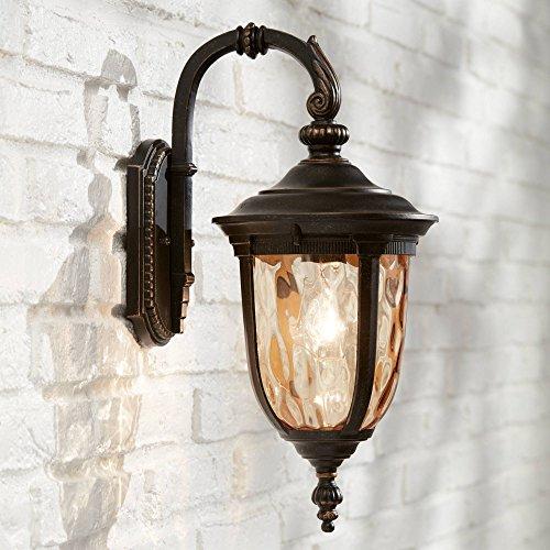 Bellagio Outdoor Wall Light Fixture Bronze 16 1/2