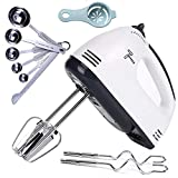 💪【POWERFUL 7 SPEEDS】 - Our hand mixer with a 110W motors and 7 different speeds to help you whisk, whip egg whites, cake batter, cookie dough, whip cream and more at the touch of a button. It allows you to achieve high quality results from egg beater...