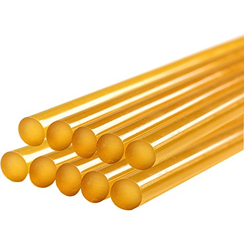 GLISTON Dent Repair Glue Sticks, Paintless Dent Repair Tool Glue Sticks for Hot Glue Gun Car Repair Dent Rmover Tool Set - 10 PCS Yellow Glue Sticks