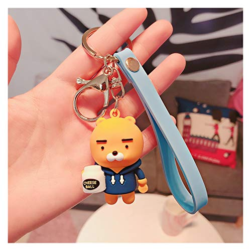 Fangzwl Keychain Pendant Keychain Cute Children's Satchel Accessories Key Ring Charm Trinket Pendant (Color : Yellow)