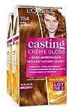 Lote de 2 tintes para cabello Casting Crème Gloss, coloración tono sobre tono, sin amoniaco, de L'Oréal Paris