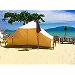 Latourreg Cotton Canvas 5X4M Touareg Bell Tent Square Glamping Safari Tent with Double Door. 17