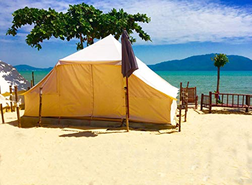 Latourreg Cotton Canvas 5X4M Touareg Bell Tent Square Glamping Safari Tent with Double Door. 8