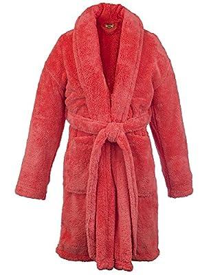 BC BARE COTTON Kids Microfiber Fleece Shawl Robe - Boys