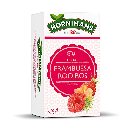 Hornimans Bolsitas de Té Frambuesa Rooibos, 20 x 1.5g