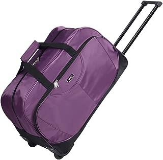 Travel Rolling Duffel Mens Womens Medium Luggage Trolley Case Purple Suitcase Rolling