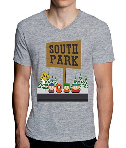South Park Logo Graphic Design Men's V-Neck T-Shirt Large