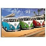REINDERS Volkswagen Bulli T1 - Wandbild 90 x 60 cm