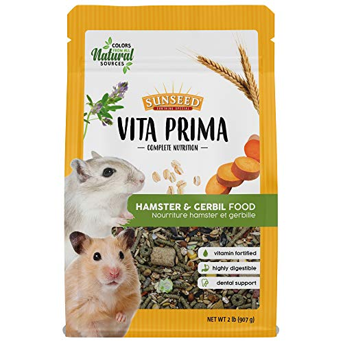 Sunseed Vita Prima Complete Nutrition Hamster & Gerbil Food, 2 LBS