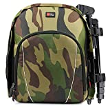 DURAGADGET Camouflage Water-Resistant Rucksack with Customizable Interior & Raincover - Compatible with Propel Star Wars X-Wing | Speeder | TIE Fighter Battling Drone