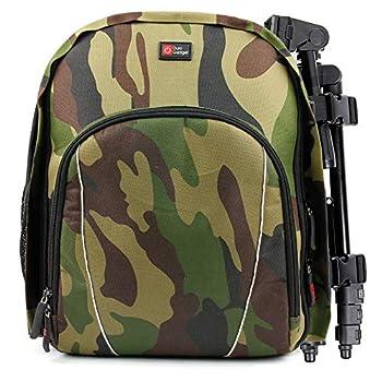 DURAGADGET Camouflage Water-Resistant Rucksack - Compatible with Bresser Condor 10x25 | Condor 10x32 | 10x42 | 10x50 | 10x56 | 7x50 | 8x25 | 8x26 | 8x32 | 8x42 | 9x63 Binoculars
