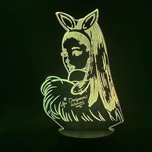 Nur 1 Stück Promi-Sänger Schauspieler Sänger Poster 3d Led Nachtlicht Cat Girl Fans Geschenk für Indoor Room Dekorative Nachtlicht Tischlampe 3d