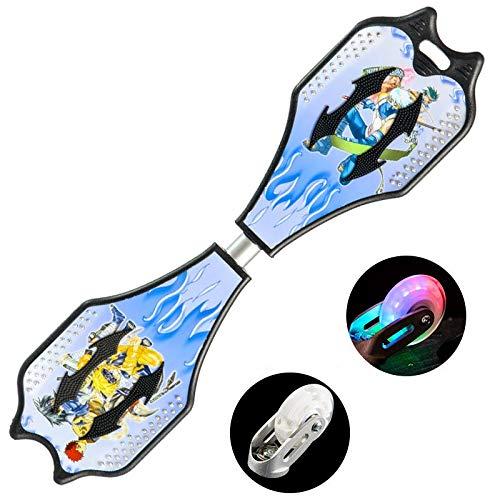 Potato smile Ripstik Skateboards Vitalität Brett PU Zweirädrige Snake Board ist leicht zu transportieren und Anti-Rutsch-Durable Kühl (30,7 * 8,6 Zoll) Schwarz