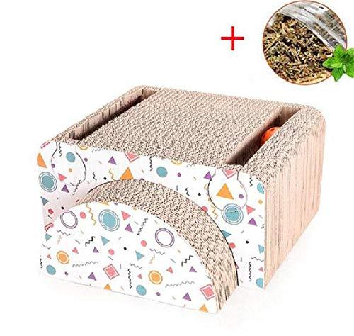 GDDYQ Kat krasplank, golfpapier combinatie kattenklauw speelgoed met bel bal
