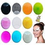 Cepillo Facial Manual LLMMZD Cepillo de Limpieza Facial de Silicona Limpiador de Piel Apto para Piel Sensible