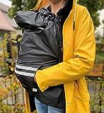 miRio • Housse de pluie pour porte-bébé, imperméable pour l'hiver et la pluie avec doublure intérieure en polaire • Peut également être utilisé avec une écharpe